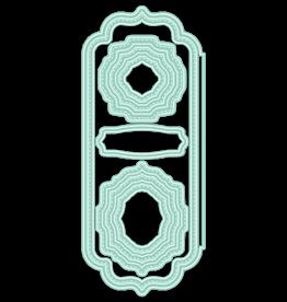 LDRS Creative Elegant Stitched Frames Slimline Die Set
