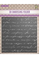 Nellie's 3D Embossing Folder - Writing