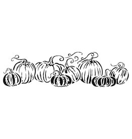 """THE CRAFTERS WORKSHOP Pumpkins In A Row - Template - 16.5""""X6"""""""