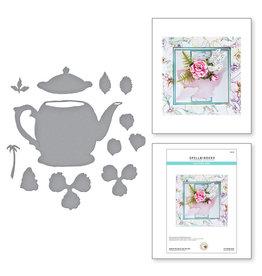 Spellbinders Hybrid Tea Rose and Tea Pot from Garden Club