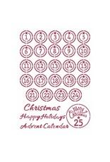 Stamperia Advent, Christmas Patchwork Stencil
