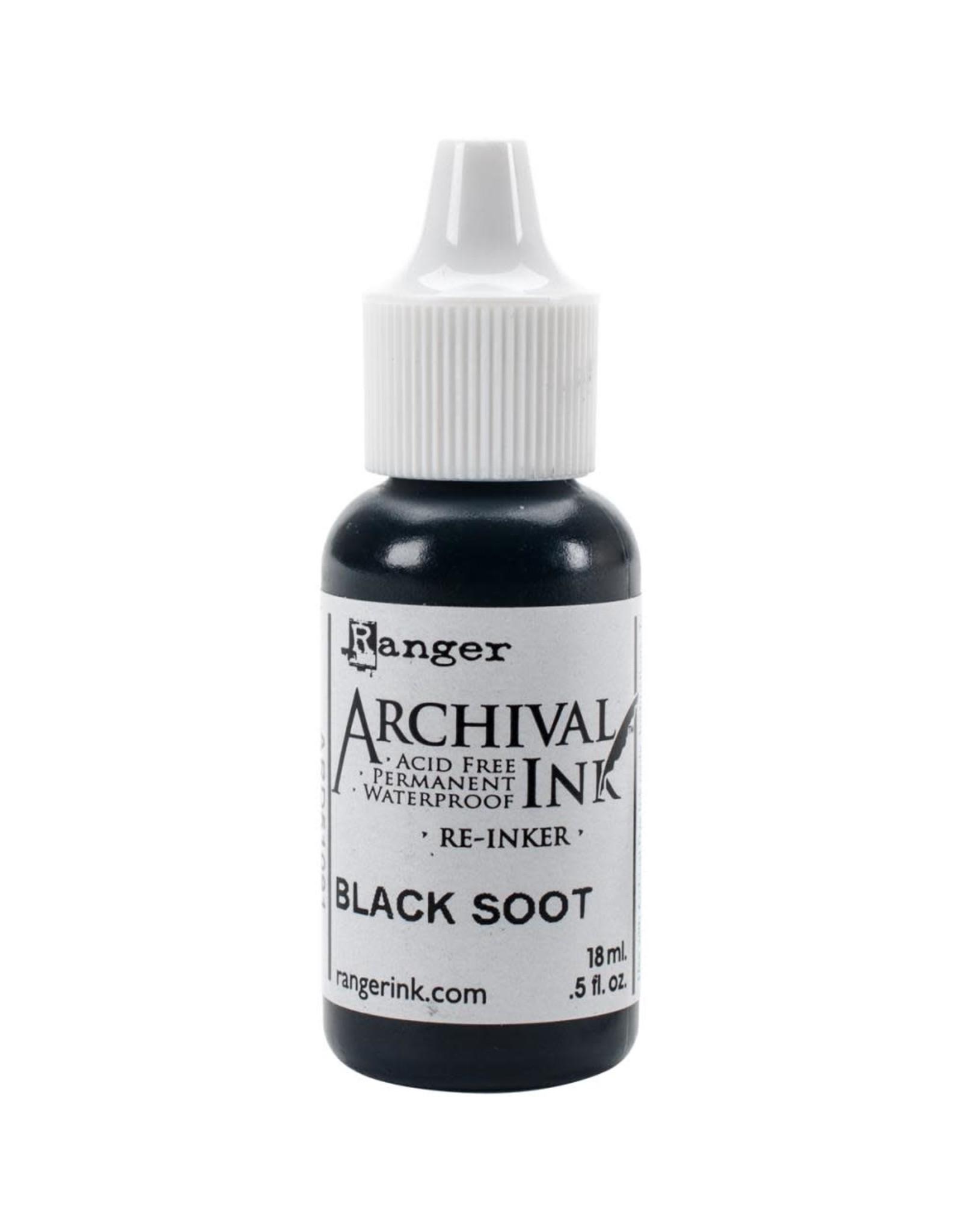 Ranger Black Soot Distress Archival Re-Inker