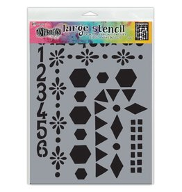 Dylusions NUMBER FRAMES-STENCILS DYLUSIONS
