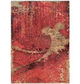 Stamperia A4 Rice paper Sir Vagabond Red Texture