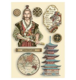 Stamperia Colored Wooden Shapes A5- Sir Vagabond in Japan Samurai