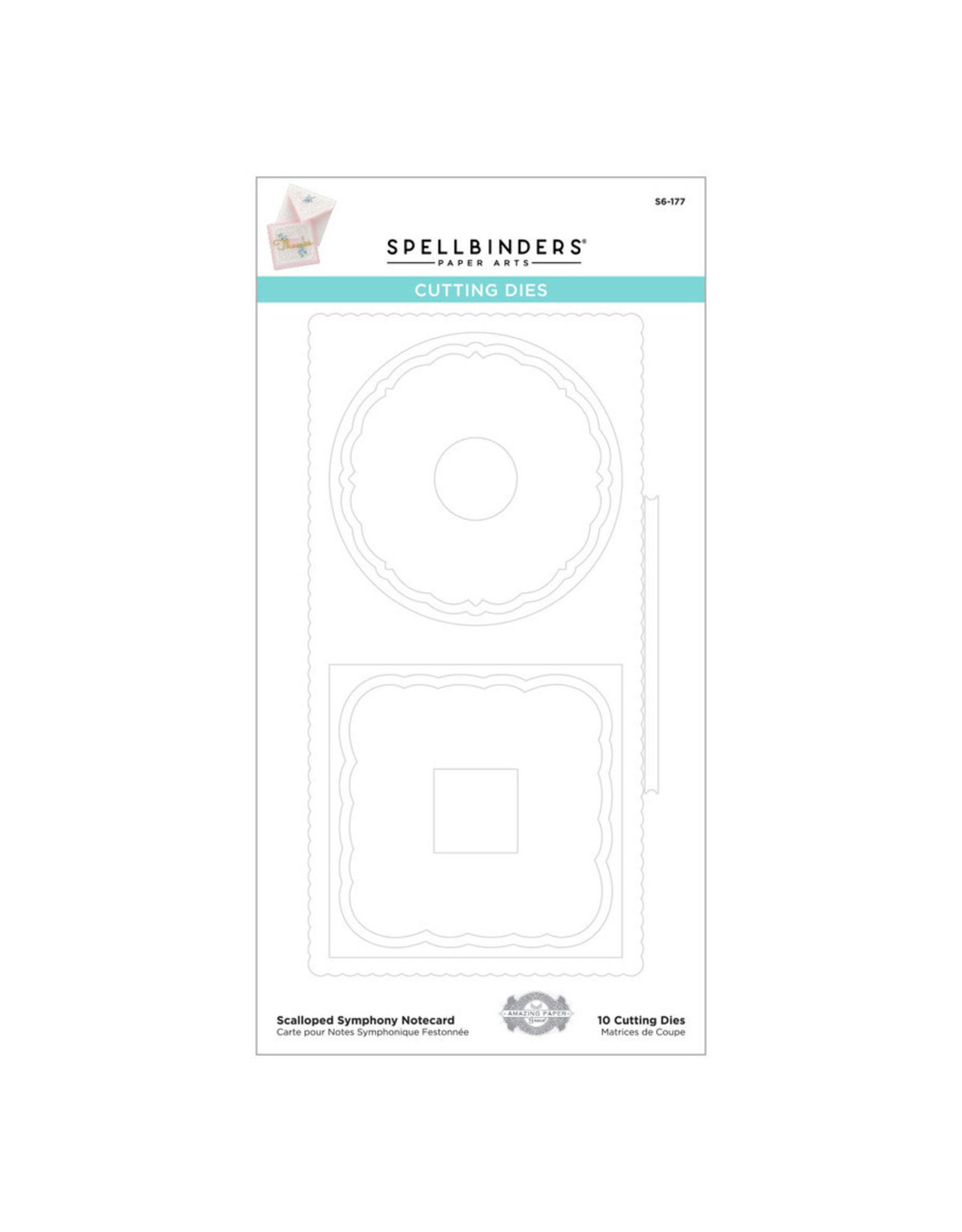 Spellbinders Amazing Paper Grace- Scalloped Symphony Notecard
