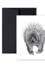 Le Nid - Porcupine Front And Back Greeting Card
