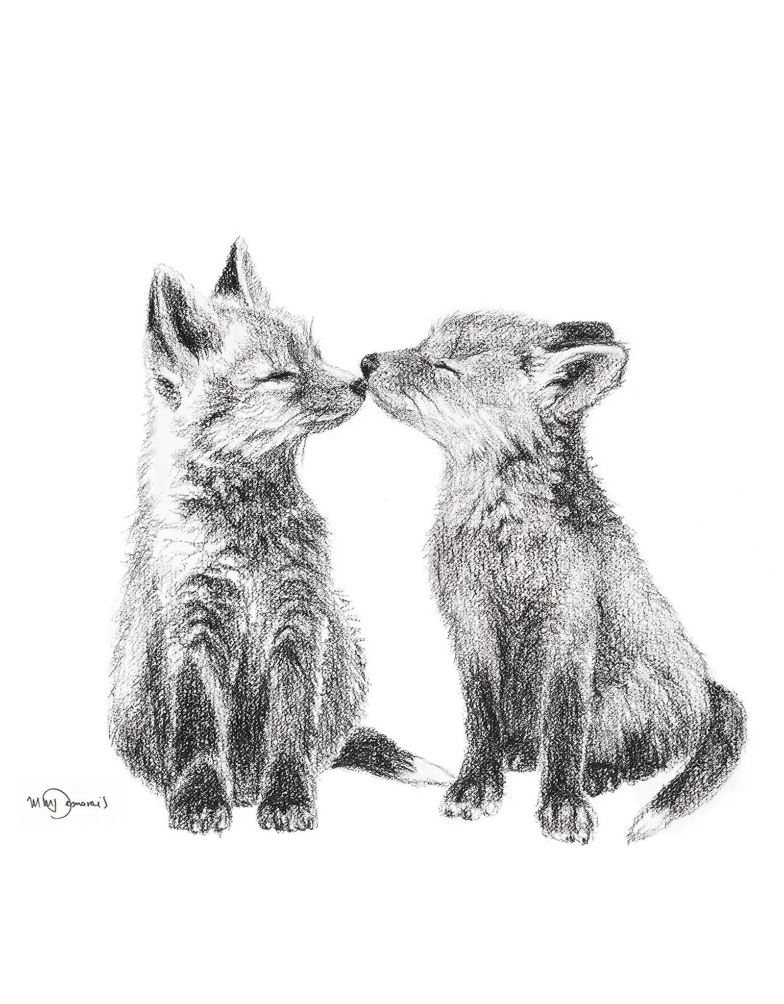 Le Nid - Adorable Baby Foxes Greeting Card