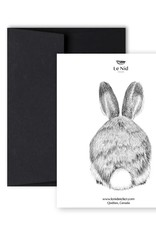 Le Nid - Rabbit Front And Back Greeting Card