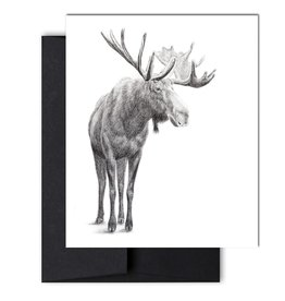 Le Nid - The Standing Moose Greeting Card