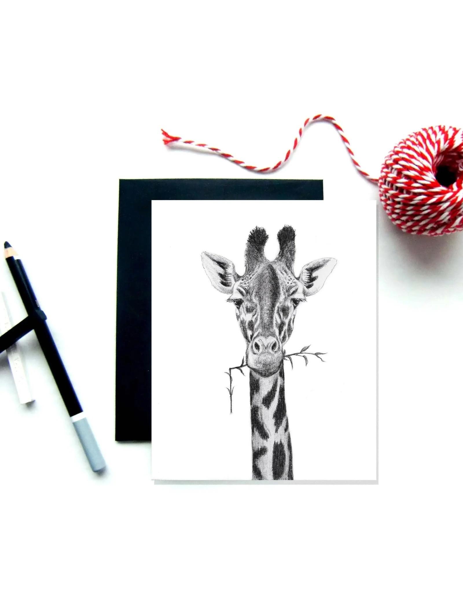 Le Nid - Girafe Greeting Card