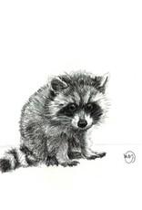 Le Nid - Baby Raccoon Greeting Card