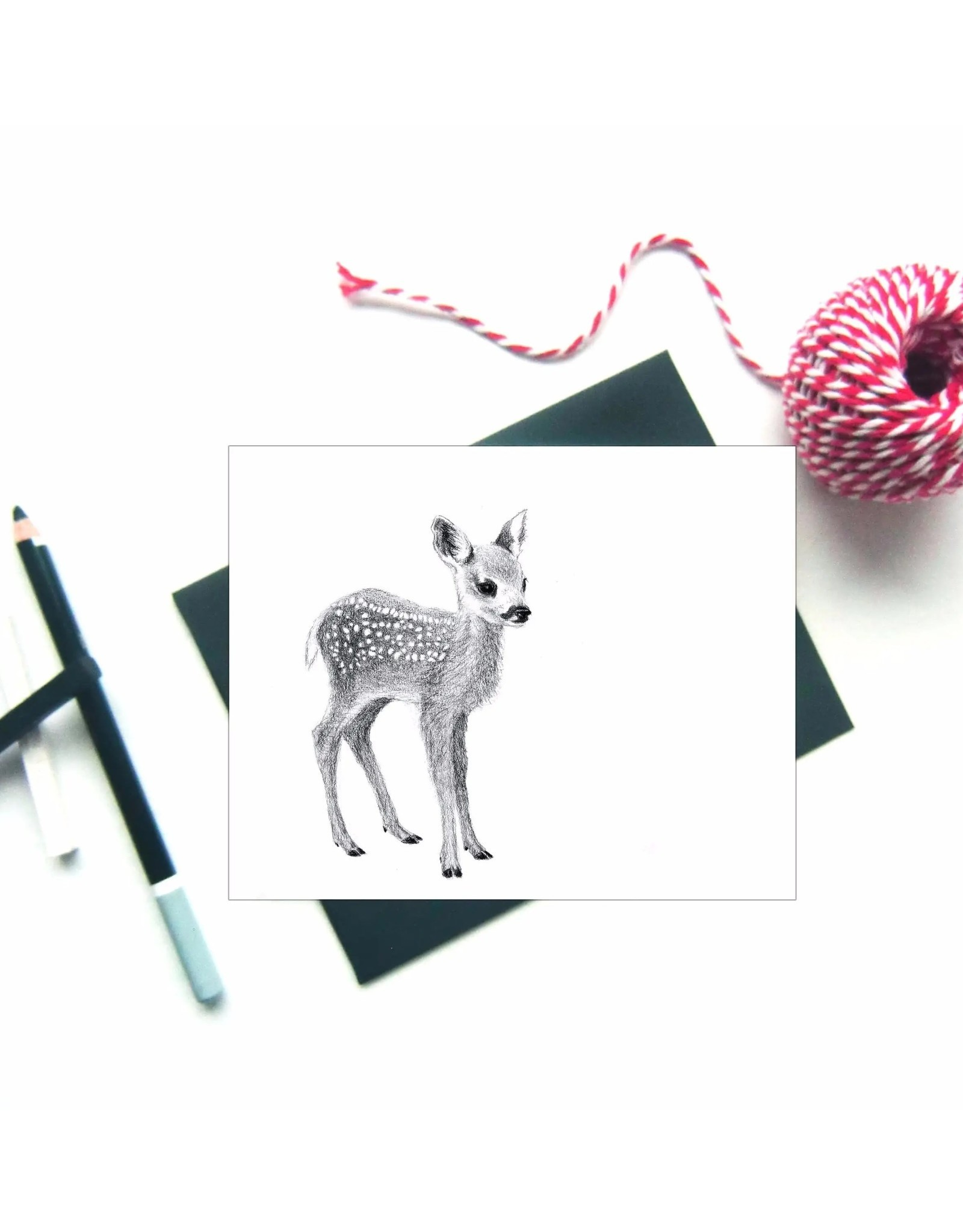 Le Nid - Baby Deer Greeting Card