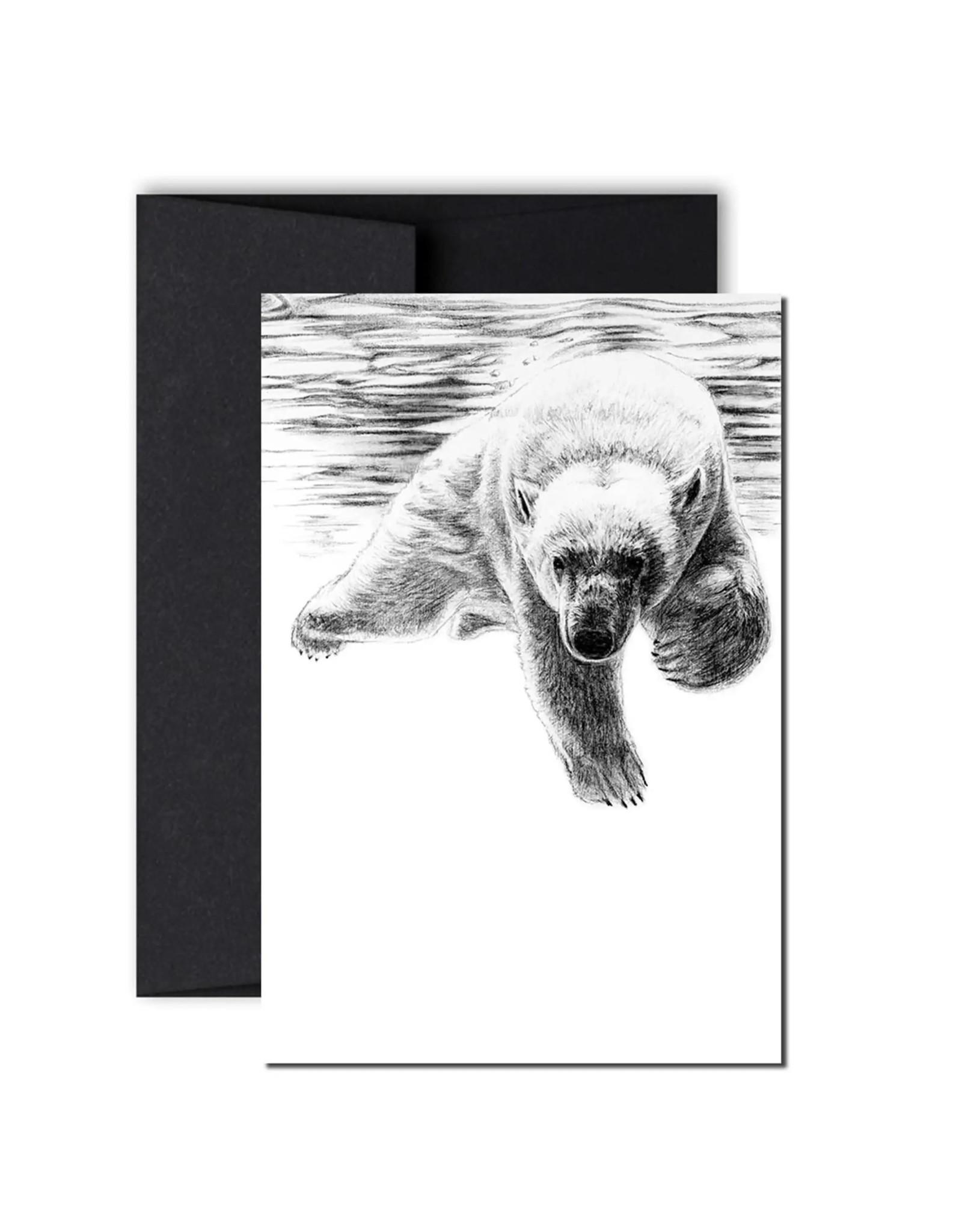 Le Nid - Polar Bear swimming Greeting Card