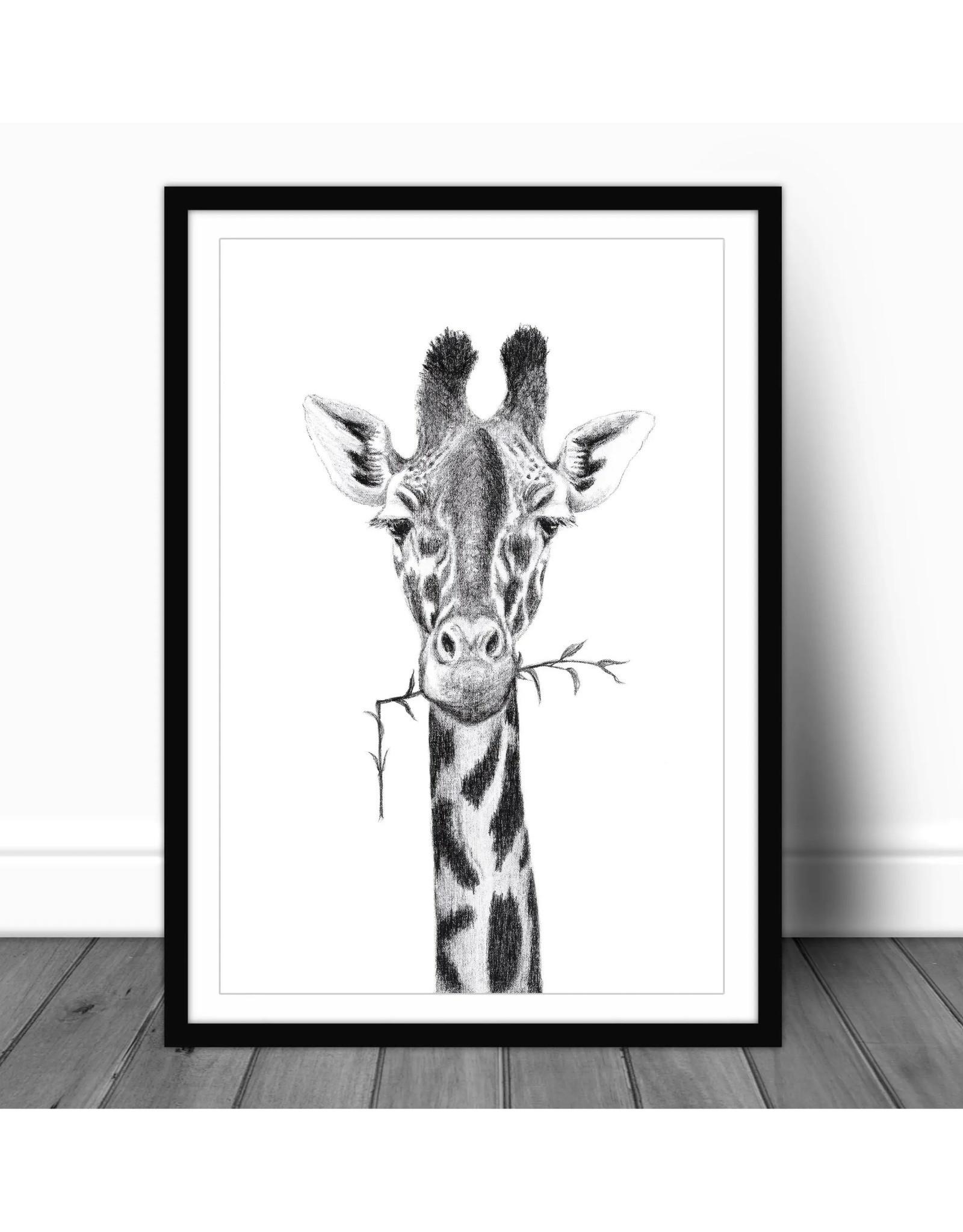 Le Nid - Girafe Portrait  Paper - 12x18