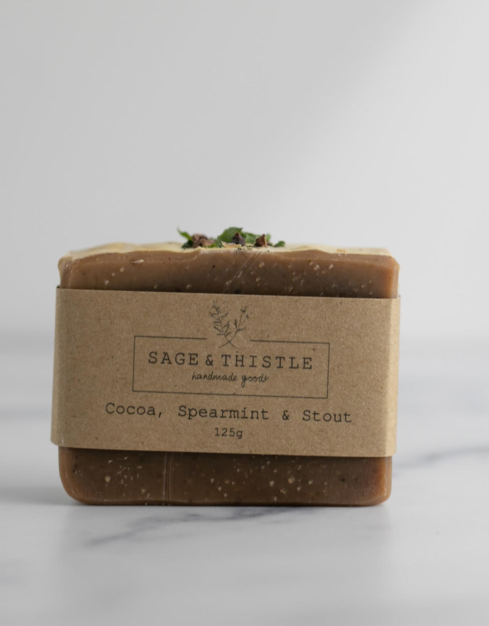 Sage & Thistle - Soap - Cocoa, Spearmint & Stout