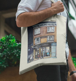 Watercolour Print Canvas Tote Bag-Toronto's Bloor Street