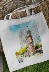 Atlas Arts - Canvas Tote Bag - Toronto's Flat Iron Building