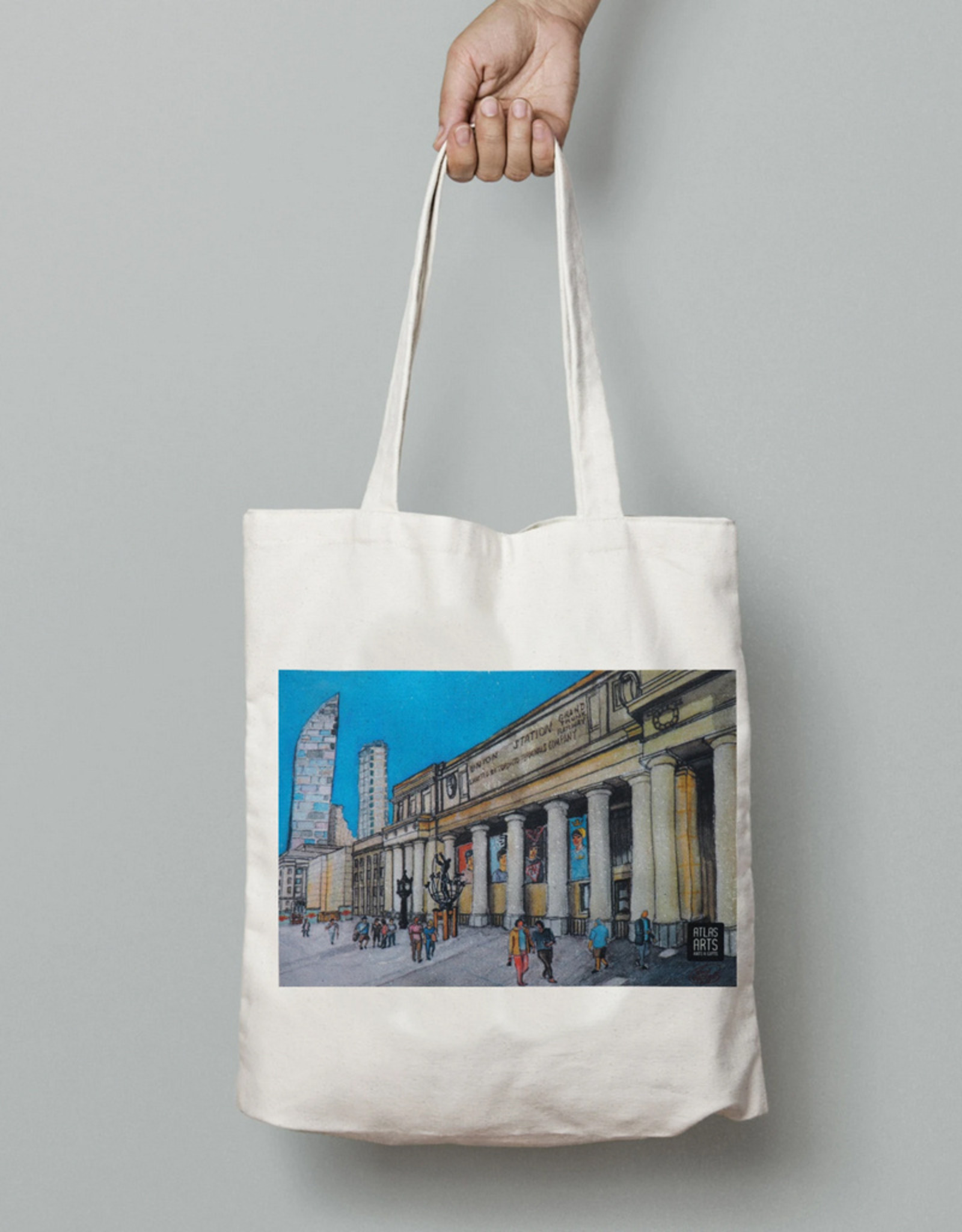 Atlas Arts - Canvas Tote Bag - Toronto's Union Station