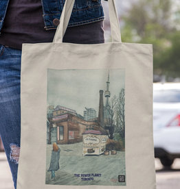 Watercolour Print Canvas Tote Bag-Contemporary Art Gallery Toronto