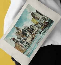 Watercolour Print Canvas Pouch-Toronto Skyline