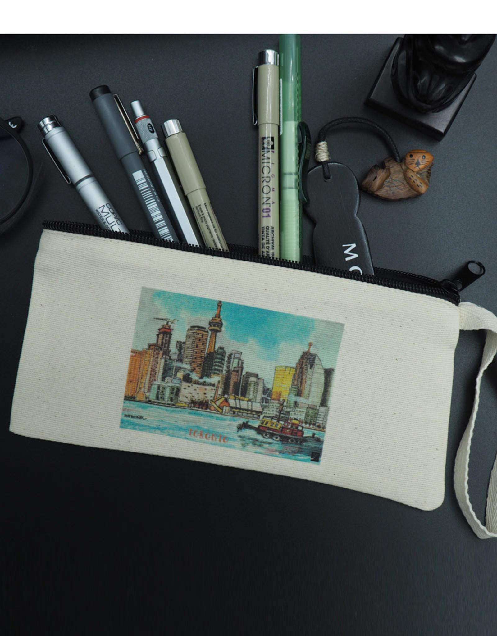 Atlas Arts - Canvas Pencil Case - Toronto's Skyline