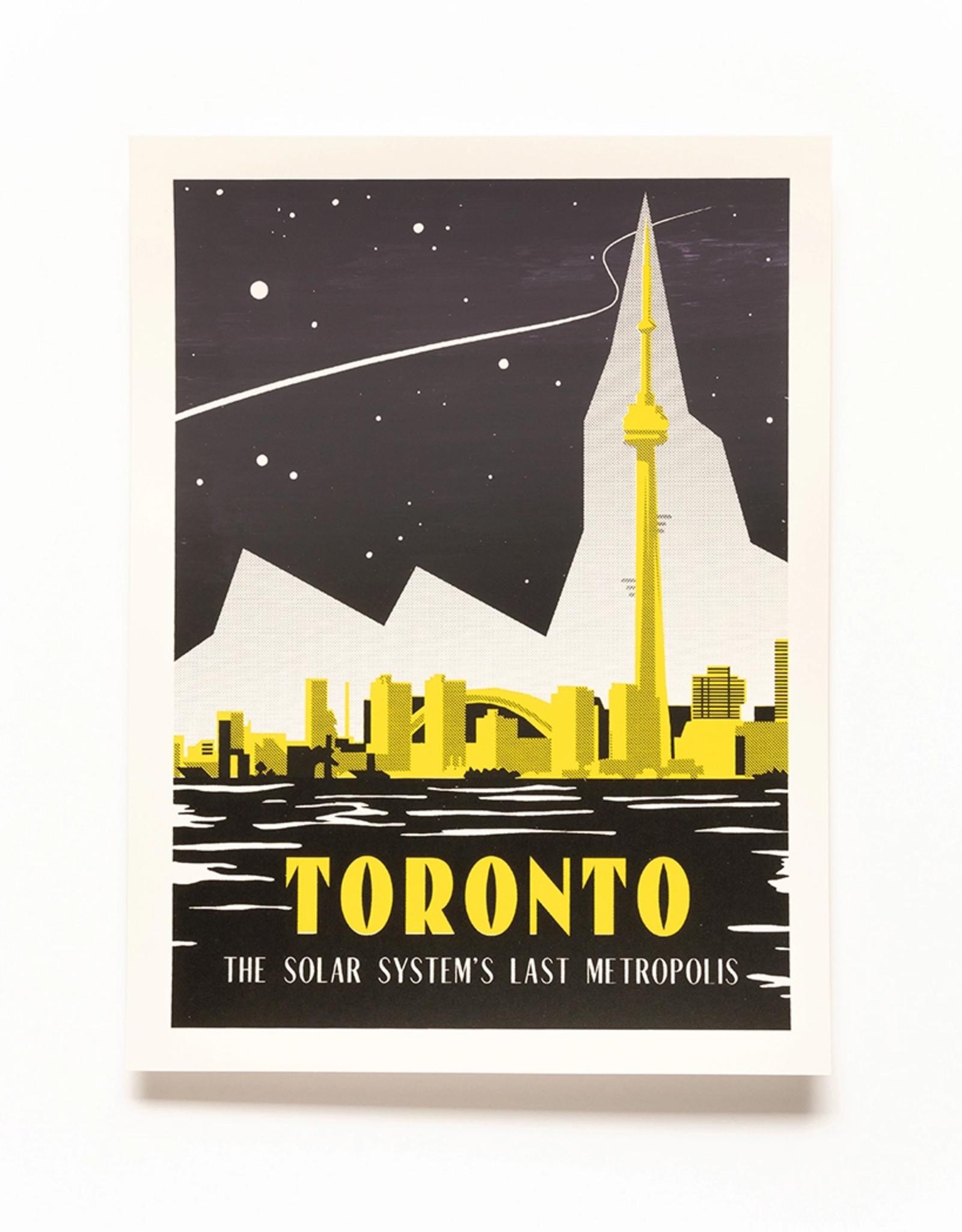 Secret Planet Screen Printed Poster - Toronto