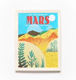 Secret Planet Screen Printed Poster - Mars