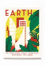 Secret Planet Screen Printed Poster - Earth