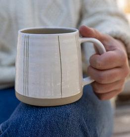 Indaba Cream Mug Striped