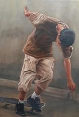 Sandra Manzi Painting - Falling Skateboard Boys #1