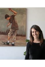 Sandra Manzi Painting - Failed Fakie Kickflip