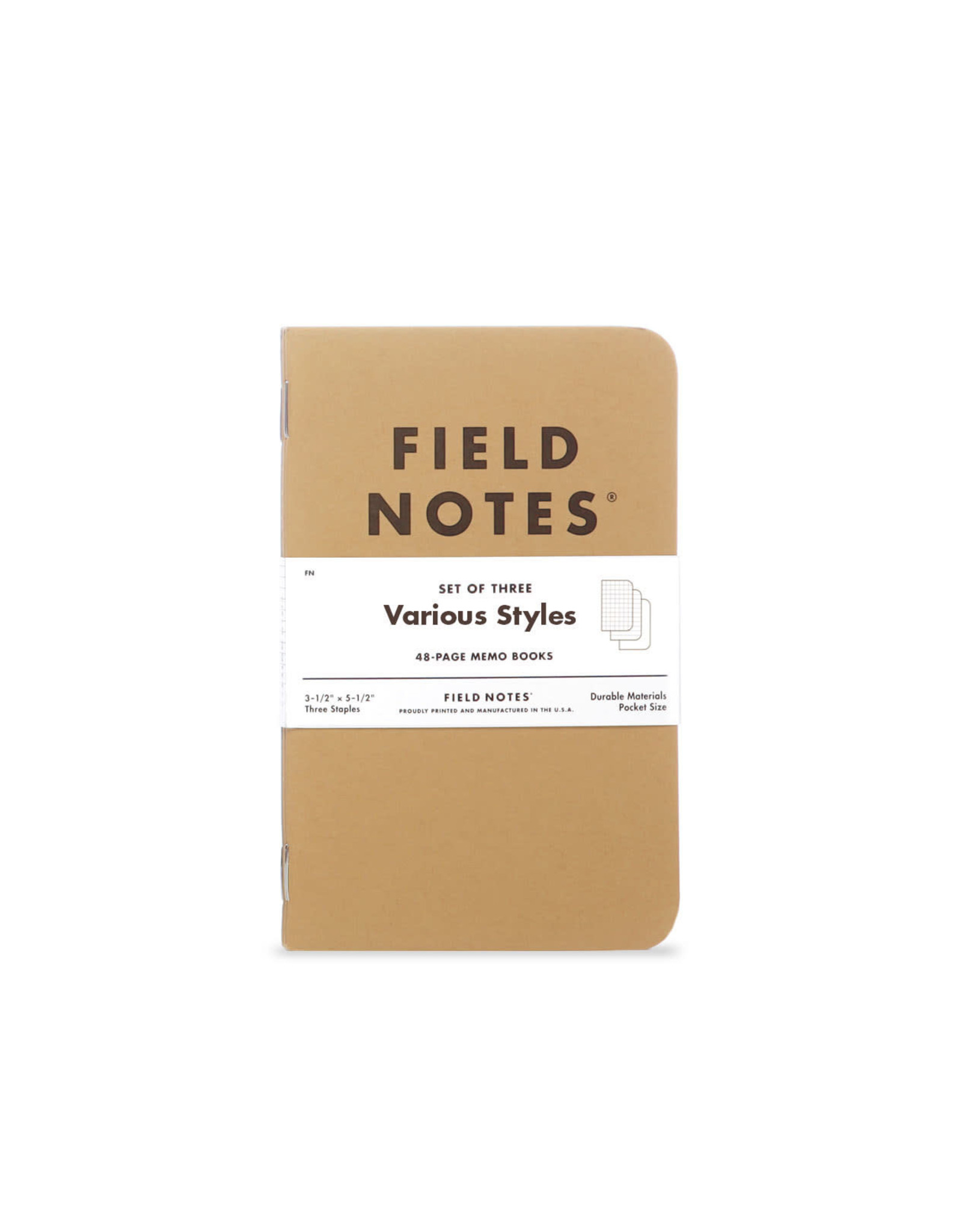 Field Notes - Original Kraft Graph 3-Packs