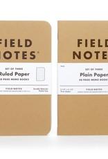 Field Notes - Original Kraft Plain 3-Packs