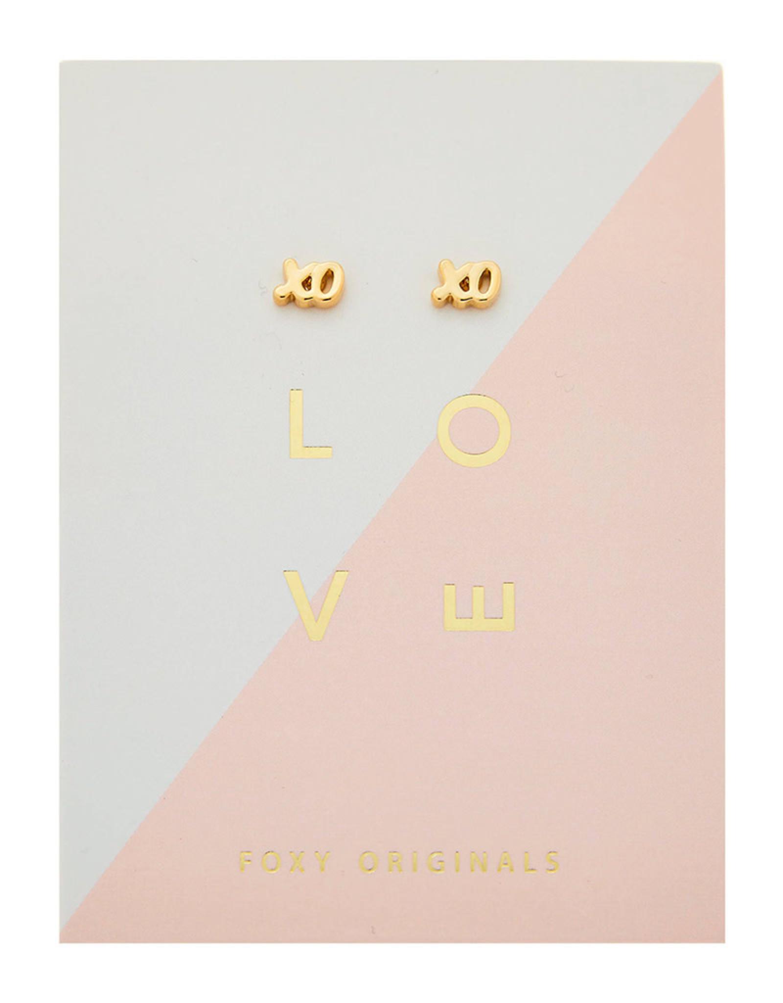 Foxy Originals - XO Earrings - Gold