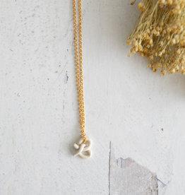 Fox and Beagle Pretzle Necklace - Glazed