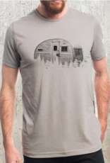 Black Lantern Black Lantern - T-shirt - Retro Camper and Forest