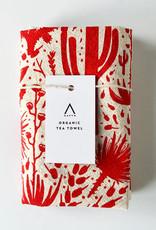 HAVYN Cactus Scene Tea Towel - Red