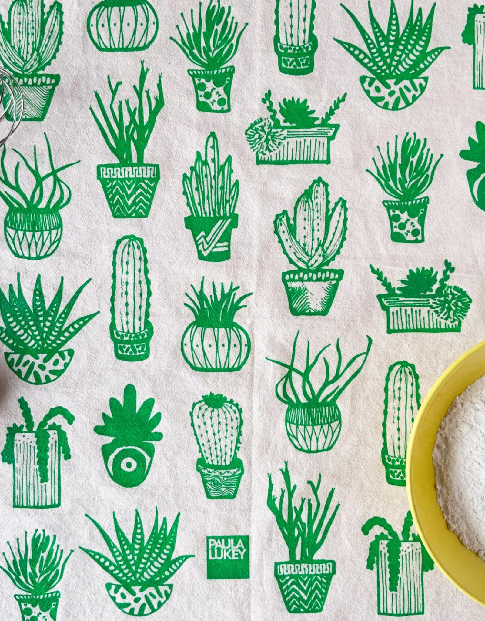 HAVYN Succulents Tea Towel - Green