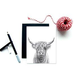 Le Nid - Highland Cow Greeting Card