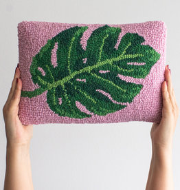 """Leaf Punch Needle Pillow - 8"""" x 12"""""""