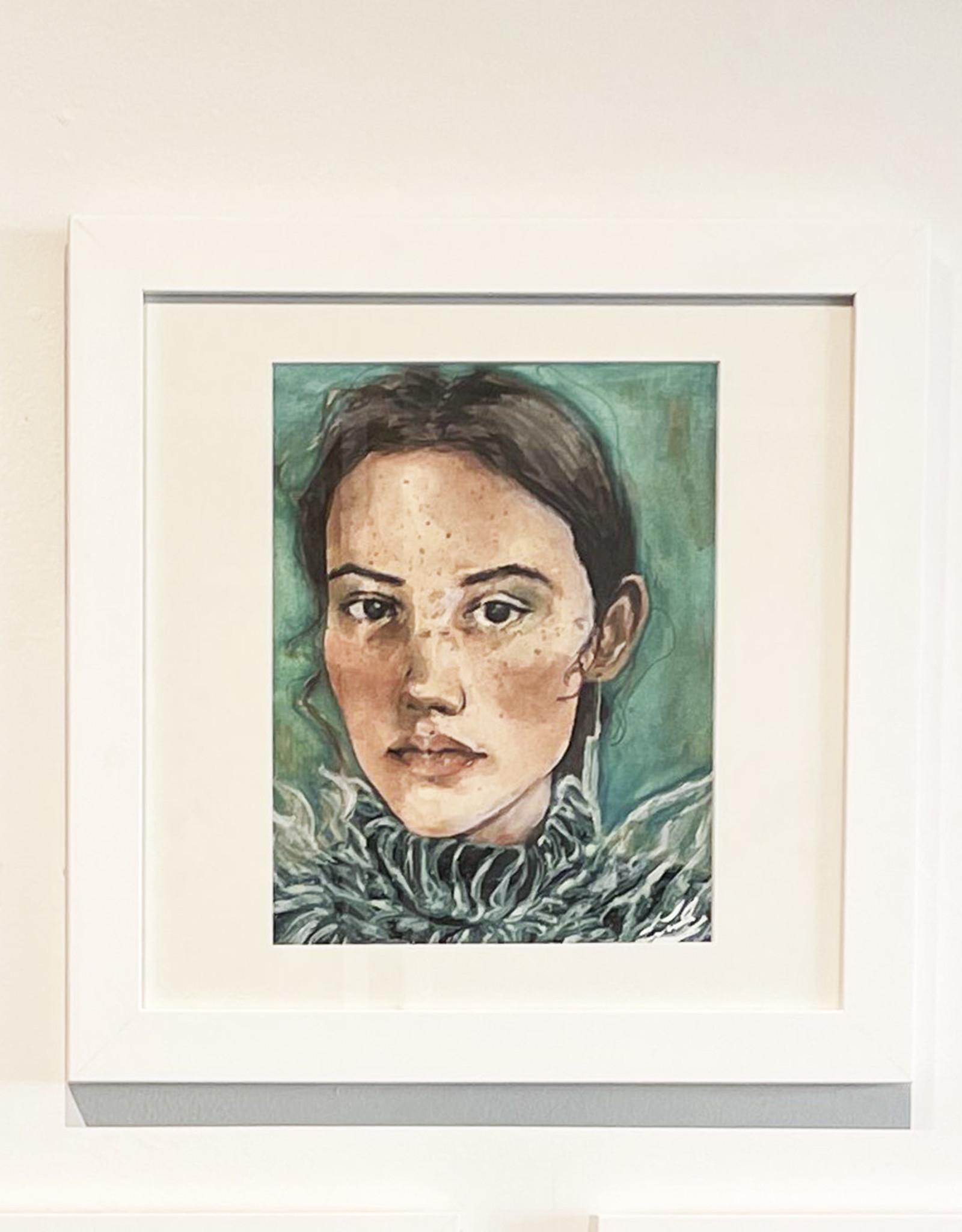 Emily Bitar Original Framed Watercolour 01