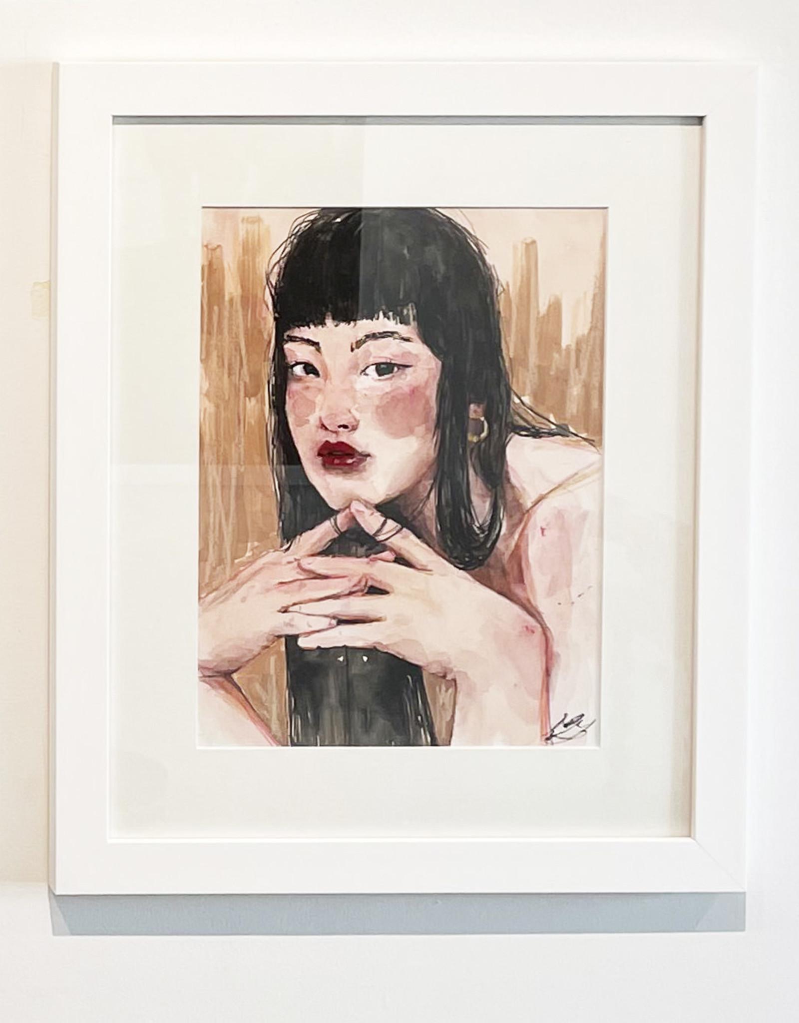 Emily Bitar Original Framed Watercolour 04