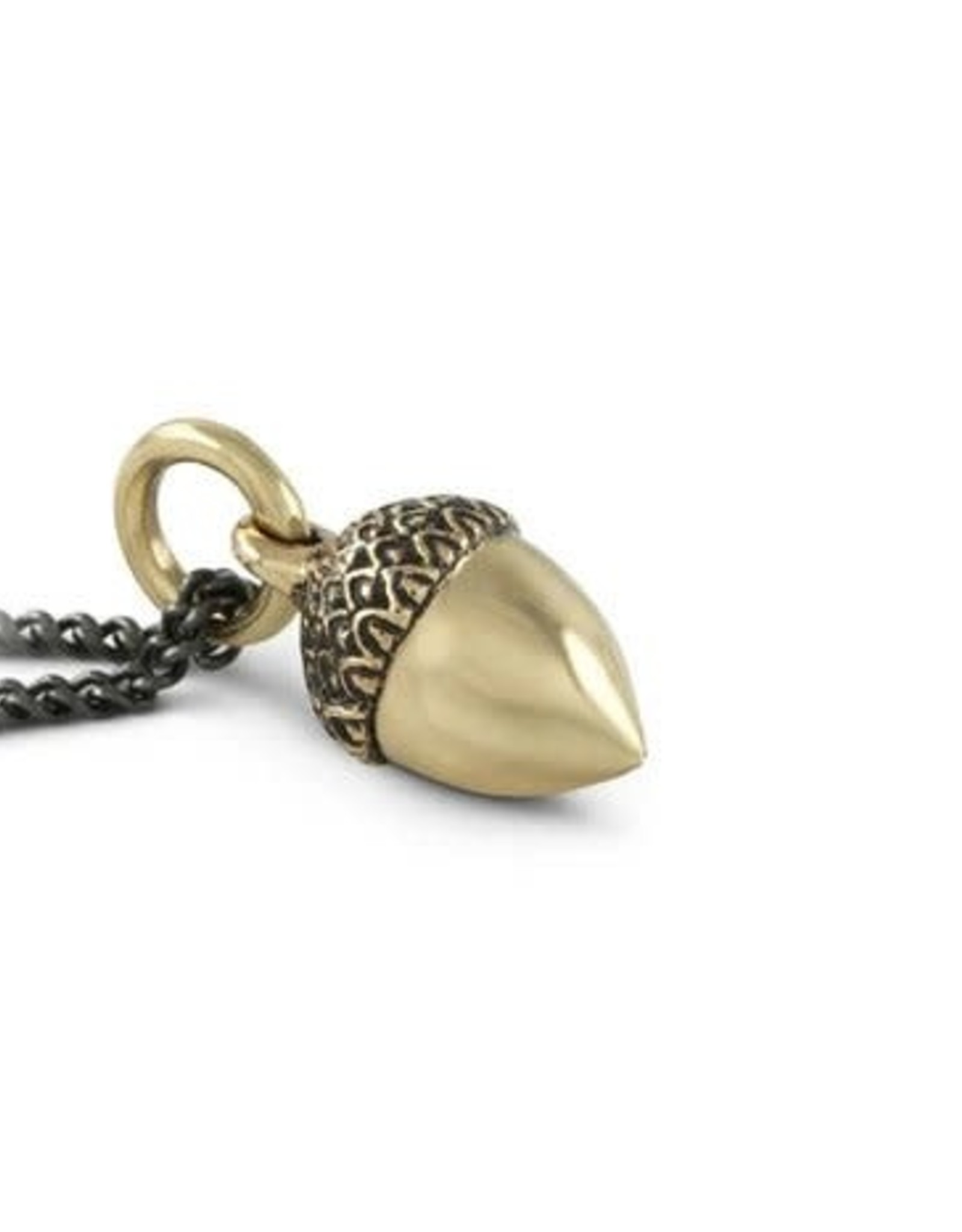 """Apostle - Acorn Necklace - Bronze - 18"""", gold plated chain"""