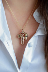 """Lost Apostle - Pills Necklace Bronze - 18"""", gold plated chain"""