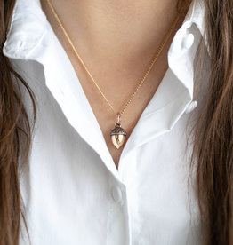 "Lost Apostle - Acorn - Bronze - 18"", gold plated chain"
