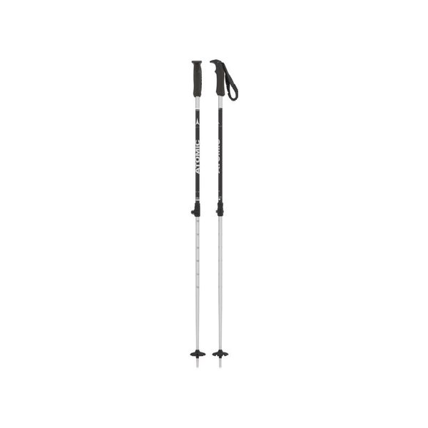 ATOMIC Batons de ski Rental Telescopic noir/argent