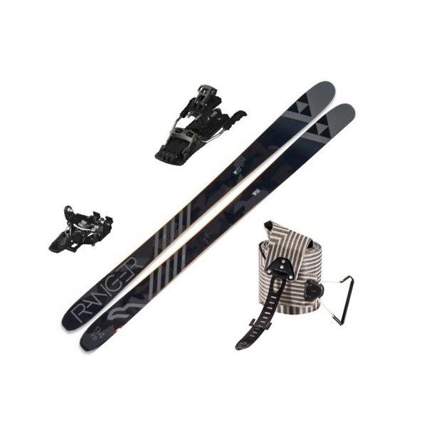 FISCHER Skis alpins Ranger 94 Fr, Atomic Backland Tour et Peaux Black Diamond