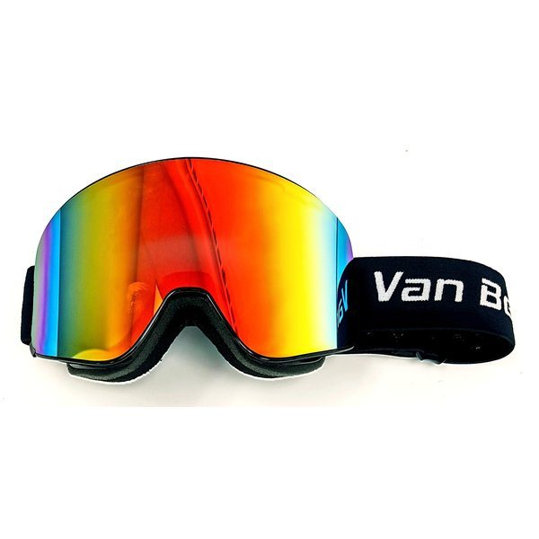 Lunette de ski alpin magnetique avec lentille revo noir SR