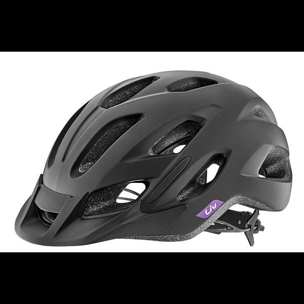 LIV Luta - Casque vélo junior noir mat